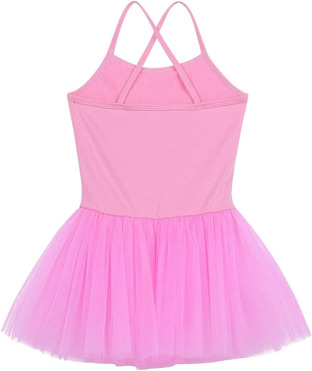 Alvivi Kids Girls Shiny Sequins Camisole Leotard Ballet Tutu Dress Gymnastic Workout Activewear