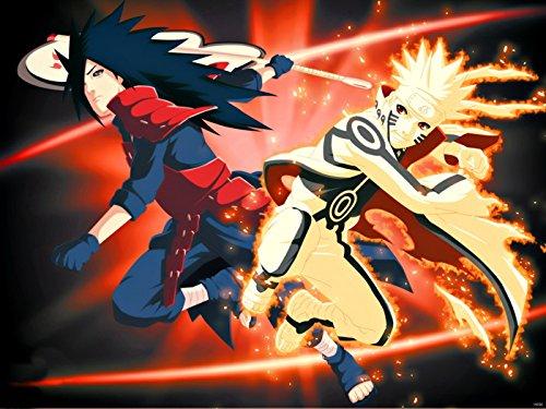 Naruto Uzumaki Madara Uchiha Awesome Anime Manga Art Print Poster