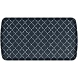 GelPro Elite Premier Anti-Fatigue Kitchen Comfort Floor Mat, 20x36'', Lattice Indigo Stain Resistant Surface with therapeutic gel and energy-return foam for health & wellness