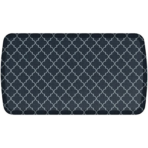 GelPro Elite Premier Anti-Fatigue Kitchen Comfort Floor Mat, 20x36'', Lattice Indigo Stain Resistant Surface with therapeutic gel and energy-return foam for health & wellness by GelPro