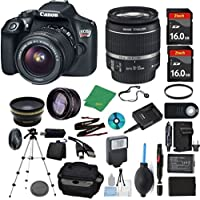 Canon Rebel T6 Camera + 18-55mm IS + 2pcs ZeeTech 16GB Memory + Case + Reader + Tripod + Starter Set + Wide Angle + Telephoto + Flash + Battery + Charger + Filter - International Version