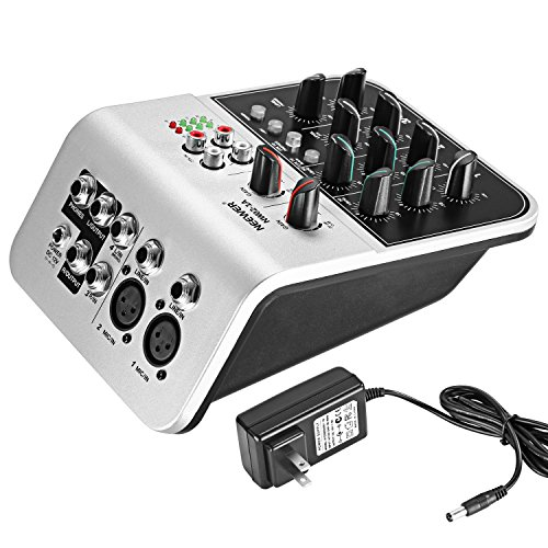 mixing console compact audio sound 2 channel mixer condenser microphone 48v eq ebay. Black Bedroom Furniture Sets. Home Design Ideas