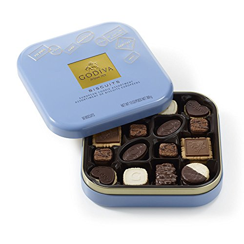 Godiva Chocolatier Chocolate Biscuit Cookies Tin Gift Pack
