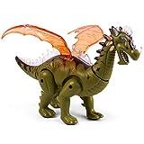 TOYMYTOY Realistic Dinosaur LED Light Up Walking Electronic Toys Simulation Pterosaur Dinosaur