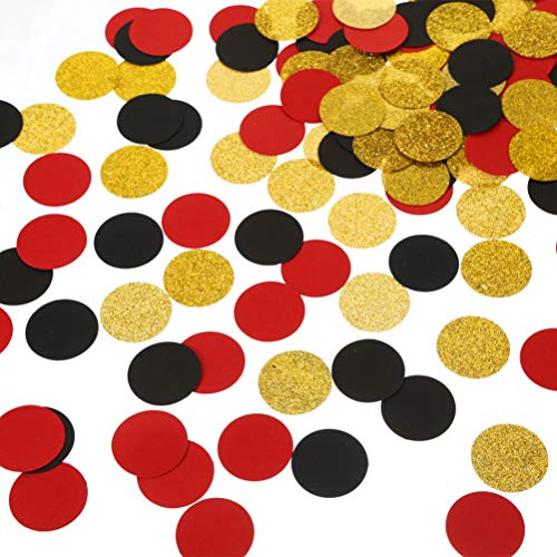 MOWO Glitter Paper Confetti Circles Table Decoration and