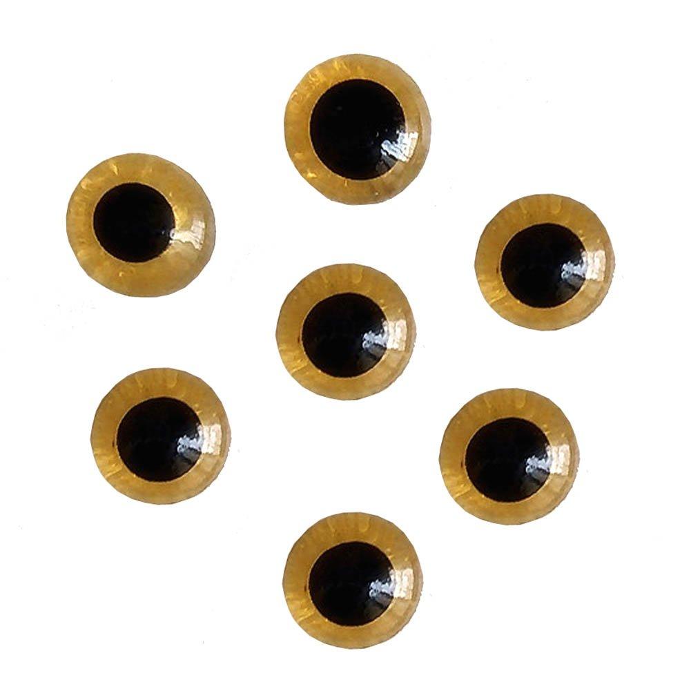 Bestartstore 1Box 100pcs 3//4//5//6//7//8//9//10//11//12mm Amber Glass Eyes kits for Needle Felting Bears Dolls Decoys Sewing