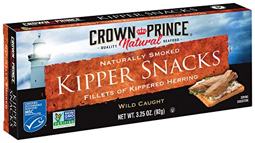 - Crown Prince Natural Kipper Snacks - Low in Sodium, 3.25 Ounce Cans (Pack of 18)