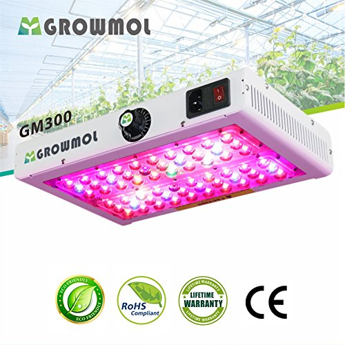 300W LED Grow Light Full Spectrum Dimmable Growing Lamp with UV & IR for Indoor Plants Veg and Flower