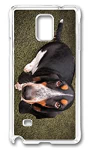 Adorable basset dog Hard Case Protective Shell Cell Phone For Case Iphone 4/4S Cover - PC Transparent
