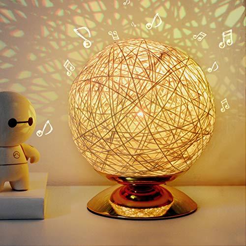 Moon Light,Romantic Night Light,Creative INS Wind Starry Baby Table lamp Bedroom Bedside lamp Fantasy Rattan Ball Light