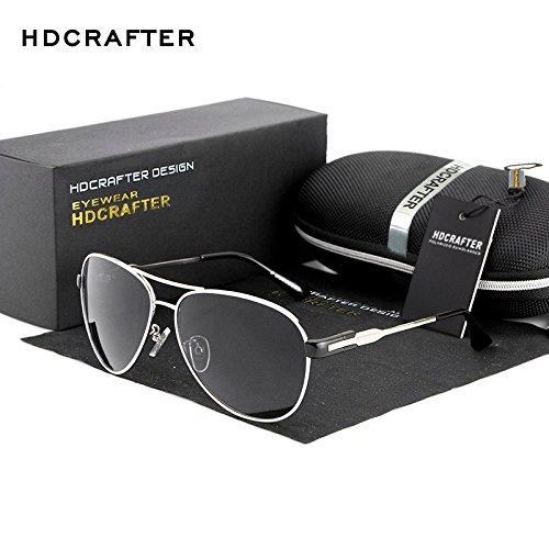 Labni Unisex Retro Aviator Sonnenbrille polarisierte Outdoor Sport Sonnenbrille klassischer gro?er Rahmen Brillen 100% UV-Schutz