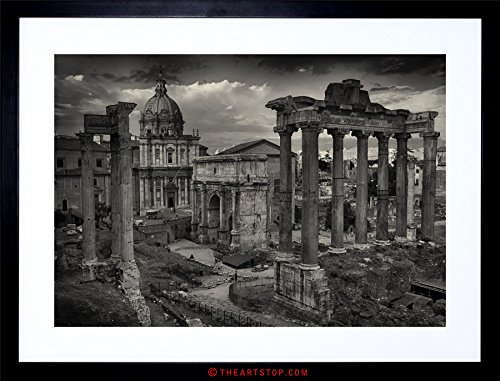 The Art Stop Photo Cityscape Rome Italy Roman Forum Ruins Framed Print ()