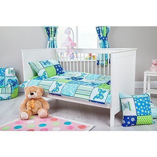 Ready Steady Bed Butterfly Design Children's Cot Size Duvet Cover Set 100cm x 120cm with Pillowcase
