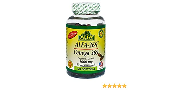 Amazon.com: Alfa 369 / Omega 369 / Flax Seed Oil / 1000 Mg / 100 Softgels: Health & Personal Care