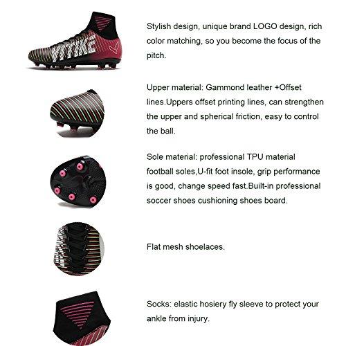 Compétition pour de Violet3 AG Football ,Homme Top High Chaussures de Football ,Homme Mixte Chaussures Crampons Enfant Foot Garçon Spike Chaussures de qExR68wnd
