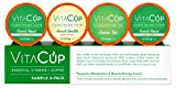 VitaCup K-Cups Variety Sample Pack with 2 French Roast Coffee, 1 French Vanilla, 1 Matcha Green Tea in Single Serve Keurig Compatible Pods
