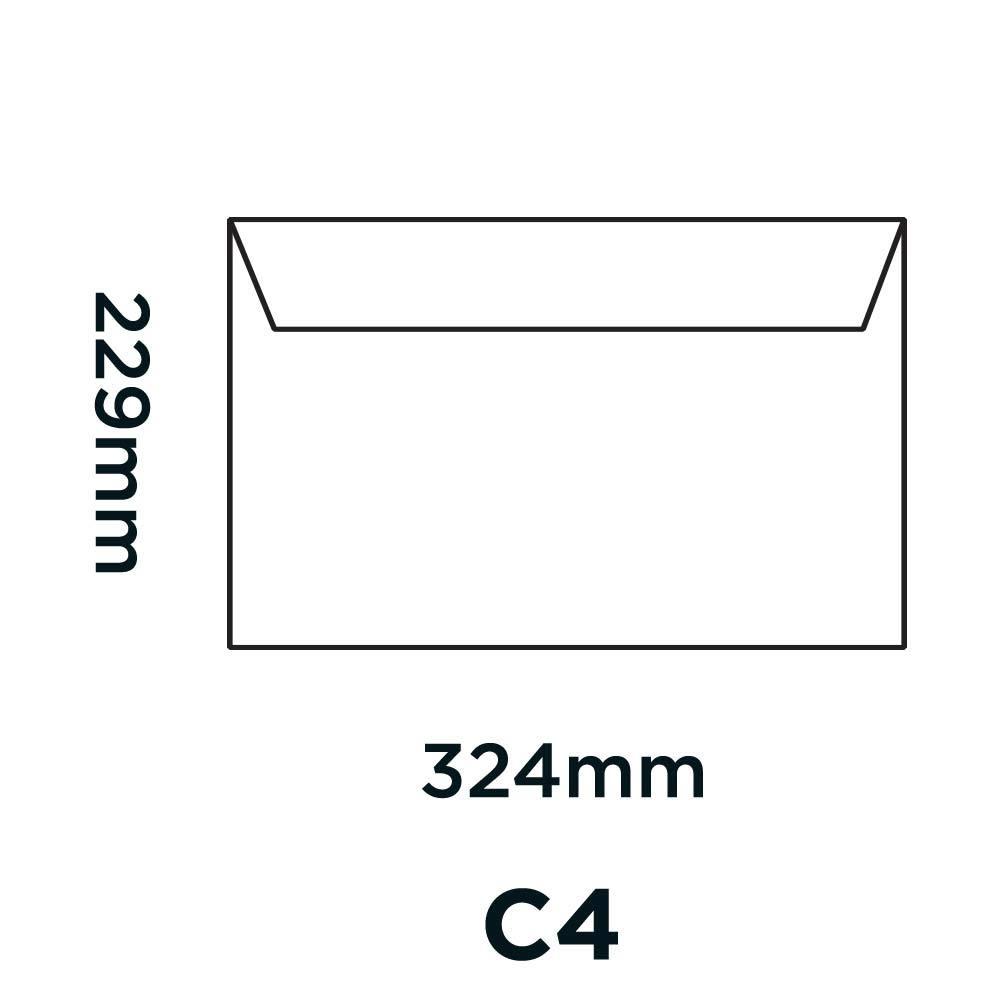 Buste con lembo adesivo Purely Everyday 37709 colore: Bianco confezione da 250 pezzi formato C4 100 g//mq 229 x 324 mm