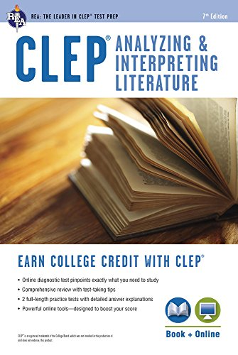 CLEP Analyzing & Interpreting Literature Book + Online (CLEP Test Preparation) by Brand: Research Education Association