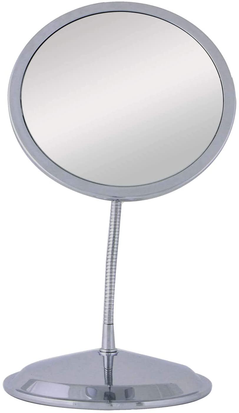 Double Vision Gooseneck Vanity Wall Mount Mirror 5x 10x Magnification Made In The Usa Personal Makeup Mirrors