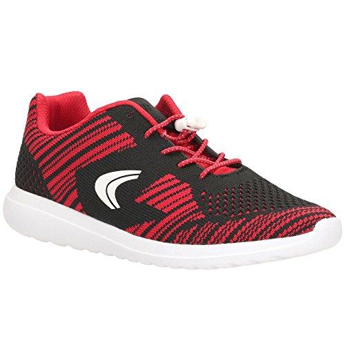 Niños Clarks Knit Deportes Infantil Sprint Red Entrenadores UwvwEArq