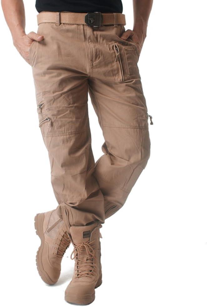 MAGCOMSEN Homme Pantalon de Travail Multi-Poches Pantalon Tactique Cargo Respirant L/éger Pantalon Camouflage pour Les Sports