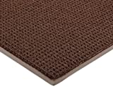 Notrax 138 Uptown Entrance Mat, for Upscale Entrances, 3' Width x 4' Length x 3/8'' Thickness, Brown