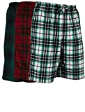 Andrew Scott Men's 3 Pack Light Weight Cotton Flannel Soft Fleece Brush Woven Pajama/Lounge Sleep Shorts (3 Pack - Assorted Classics Plaids, X-Large)