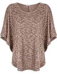 Women's Scoop Neck Short Sleeve T-Shirt Drape Dolman Top