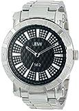"JBW Men's JB-6225-B ""562"" Pave Dial Stainless Steel Diamond Watch"