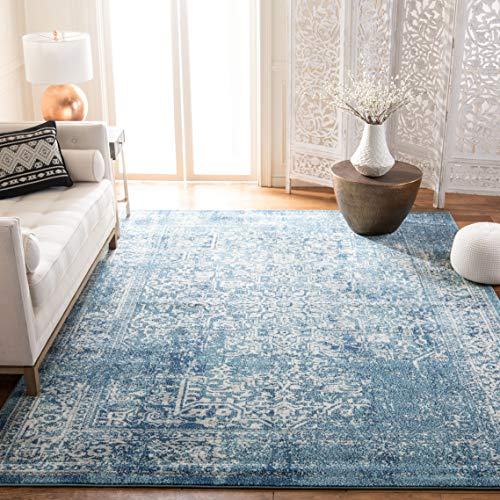 (Safavieh Evoke Collection EVK256C Vintage Oriental Blue and Ivory Area Rug (9' x 12'))