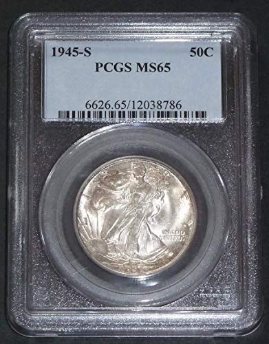 1945-S Walking Liberty Half Dollar MS65 - Dollar Pcgs