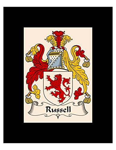Carpe Diem Designs Russell Coat of Arms/Russell Family Crest 8X10 Photo Plaque, Personalized Gift, Wedding ()