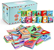 Acekid Baby Cloth Book, 12pcs Soft Stroller Books - Nontoxic, Colorful and Crinkle, Idea for Infants and Toddl