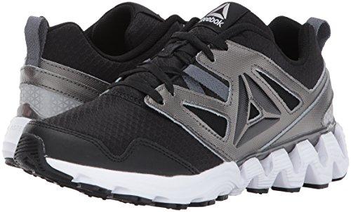 Reebok Unisex-Kids Zigkick 2K17 Sneaker, Black/Pewter/Alloy/White, 4 Big Kid (For Shoes Kids Reebok)