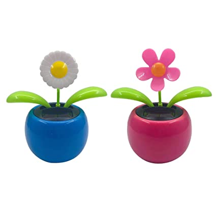 f1beea6c4 Buy 2pcs Solar Powered Flower Insect Dancing Doll Flip Flap Toy Home Decor  Car Ornament Flowerpot Toy Figure Online at Low Prices in India - Amazon.in