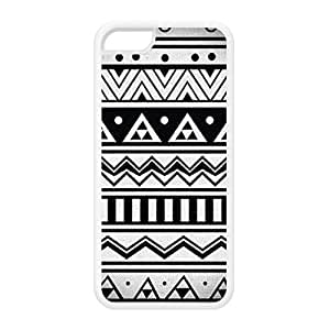 Diy iPhone 6 plus Aztec 8 White Silicon Rubber Case for iPhone 6 plus by DevilleArt + FREE Crystal Clear Screen Protector