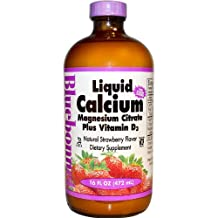 Liquid Calcium Magnesium Citrate, Strawberry Flavor 16 fl oz by Bluebonnet Nutrition