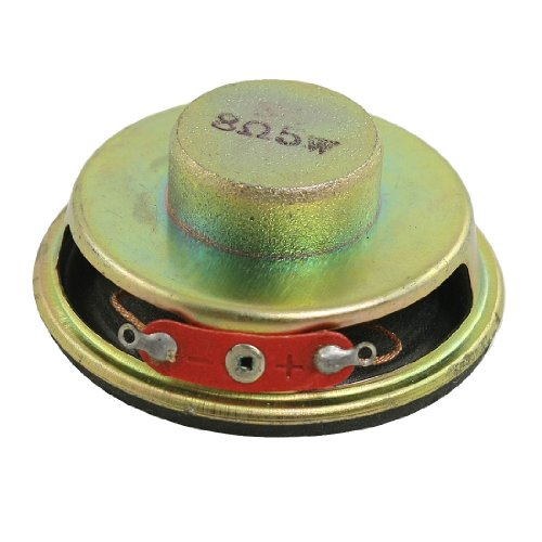 """uxcell 50mm 2"""" Dia. Magnetic Type Aluminum Shell Round Speaker 8 Ohm 5W"""