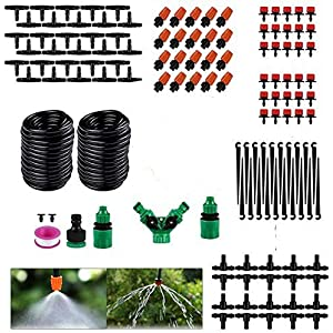 Drip Irrigation Kit, 30M Plant Watering System Distribution Tubing DIY Automatic Irrigation Equipment Set for Garden…