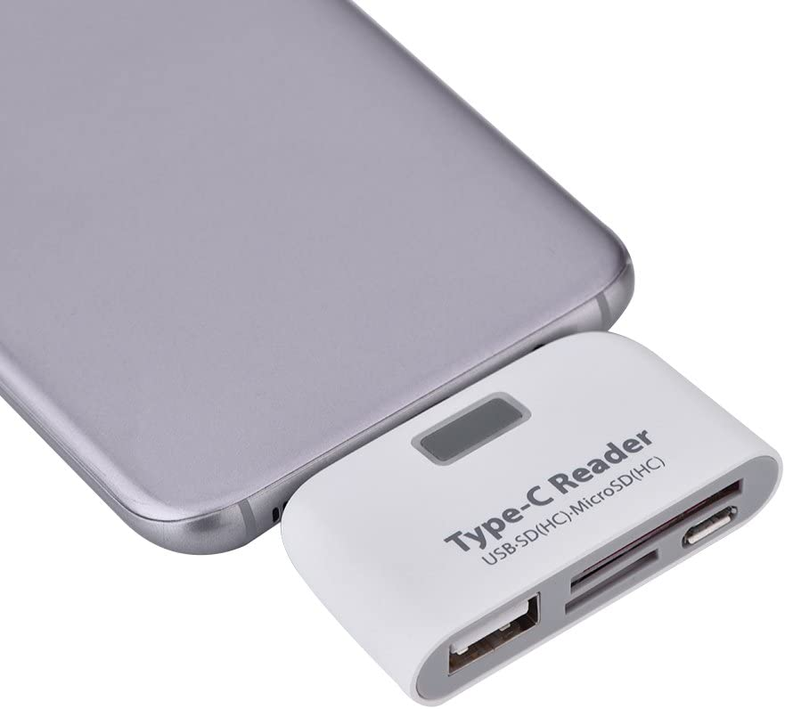 Keyboard Memory Card Reader with Micro USB Port for U Disk Asixx Type c Card Reader White USB3.1 Type-C to USB 2.0 OTG Hub SD//TF Micro SD Type C Card Reader HC Mouse and More