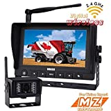 """7"""" Digital Wireless Rear View Backup Camera System Kit, Vechile Cctv Security Surveillance, Waterproof Camera, No Interference, for Excavator, Cement Truck, Farm Tractor, Trailer, 5th Wheel, Rv Camper, Heavy Truck"""
