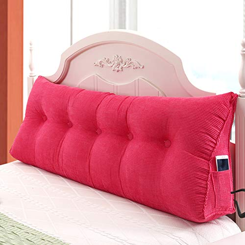 Upholstered Corner Wedge Fabric (VIVOCWedge Corduroy Filled Triangular Wedge Pillow Cushion Sofa Bed Soft Headboard Daybed Tatami Backrest Corner Position Support Reading Pillow Lumbar Pad-b 60x50cm(24x20inch))