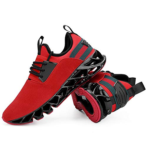 Qiusa Golpes Transpirables Correr Tamaño Rojo Duraderas Zapatillas Absorben 44 De Hombres color Eu Para Los Que Gran Rojo Ag7Ar