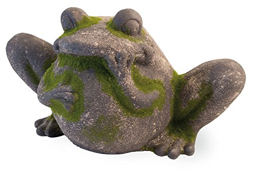 Boston International HYT18056 Celebrate The Home Decorative Moss Statue, Frog