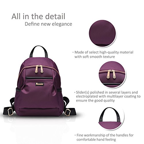 Oxford Purple purple School Shoulder Simple Versatile Bags New Girl Nicole Cloth Waterproof Backpack amp;Doris qgZOXZBFwx