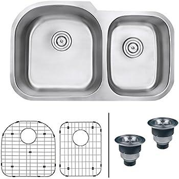 this item ruvati rvm4600 undermount 16 gauge 34 kitchen sink double bowl - Kitchen Sink Double