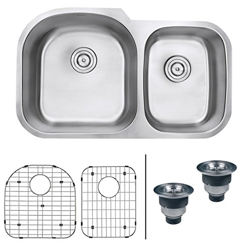Buy Cheap Ruvati RVM4600 Undermount 16 Gauge 34 Kitchen Sink Double Bowl