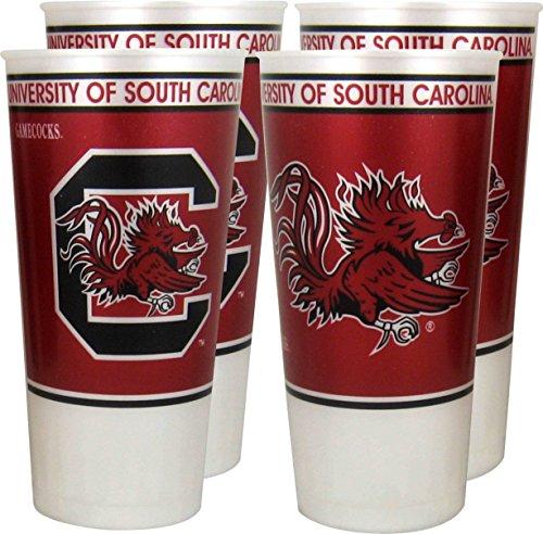 NCAA South Carolina Gamecocks 4-Pack 24oz. Plastic Souvenir Cups