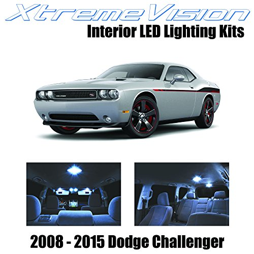 XtremeVision Dodge Challenger 2008-2015 (10 Pieces) Cool White Premium Interior LED Kit Package + Installation Tool