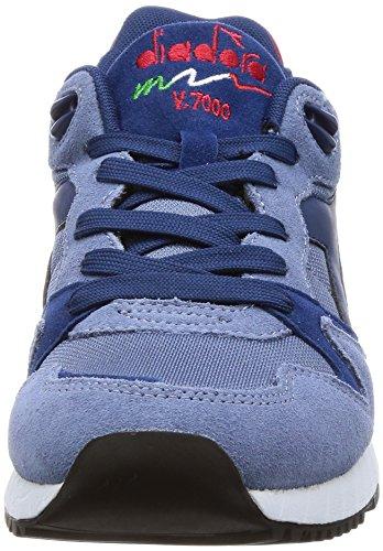 a Collo Uomo Nyl V7000 II Diadora Blu Basso Sneaker w1nqSPZxWC